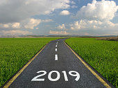 New year 2019 road start