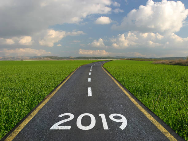New year 2019 road start New year 2019 road start 2019 stock pictures, royalty-free photos & images