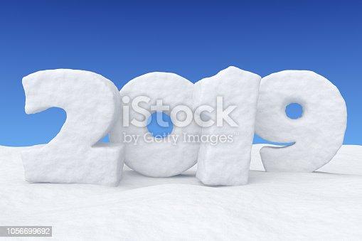 1078018146 istock photo New Year 2019 snow text on snow under blue sky 1056699692