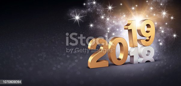istock New Year 2019 symbol for Greeting Card 1070609264