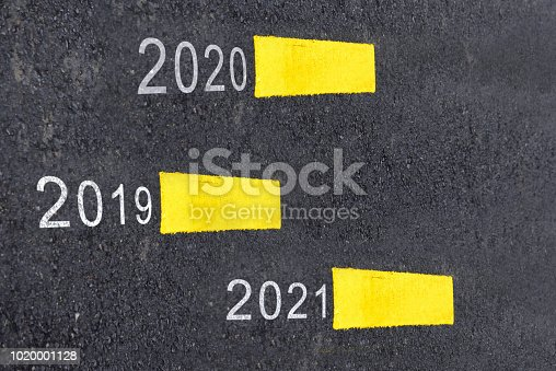 1081389658 istock photo New year 2019 to 2021 1020001128