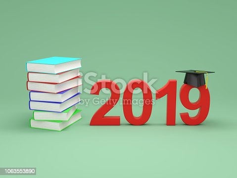 istock New Year 2019 with Books 1063553890