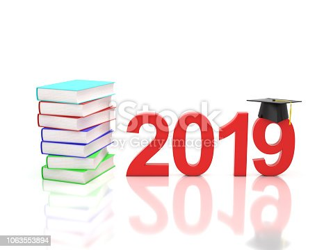 istock New Year 2019 with Books 1063553894