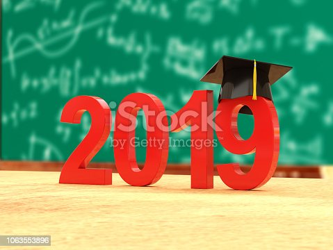 istock New Year 2019 with Books 1063553896