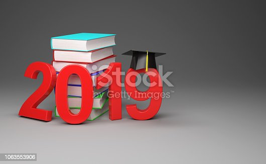 istock New Year 2019 with Books 1063553906