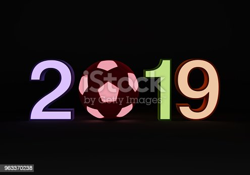 istock New Year 2019 with Football 963370238