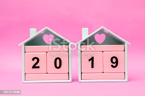 istock New Year 2019 with Pink block 1051513586