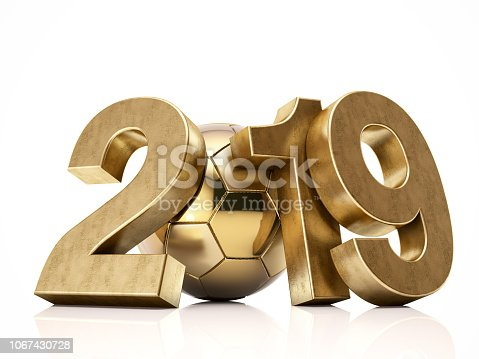 istock New Year. 2019 with Soccer Ball 1067430728