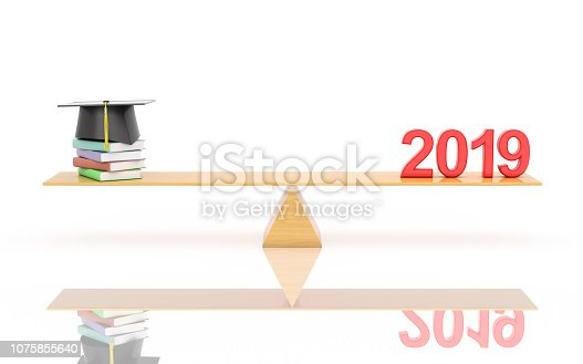 istock New Year 2019 with text Book - 3D Rendered Image 1075855640
