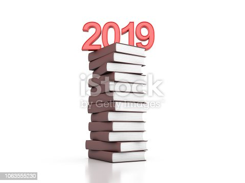 istock New year 2019 with Text books 1063555230
