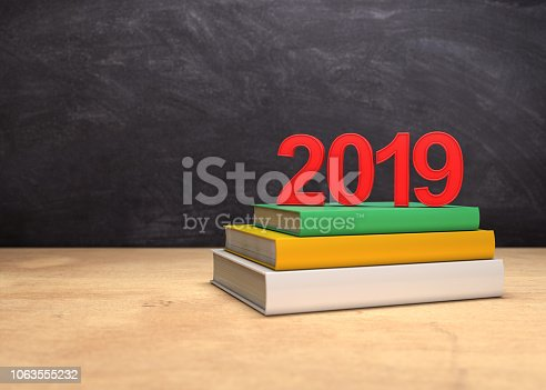 istock New year 2019 with Text books 1063555232