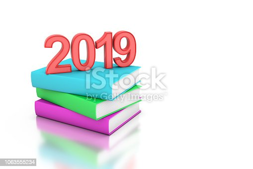 istock New year 2019 with Text books 1063555234