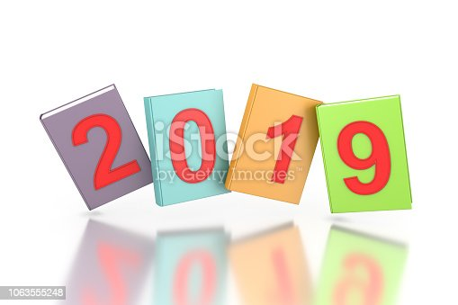 istock New year 2019 with Text books 1063555248