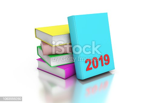 istock New year 2019 with Text books 1063555250