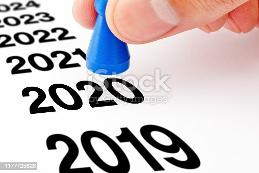 istock New Year 2020 Beginning Pawn Concept 1177725626