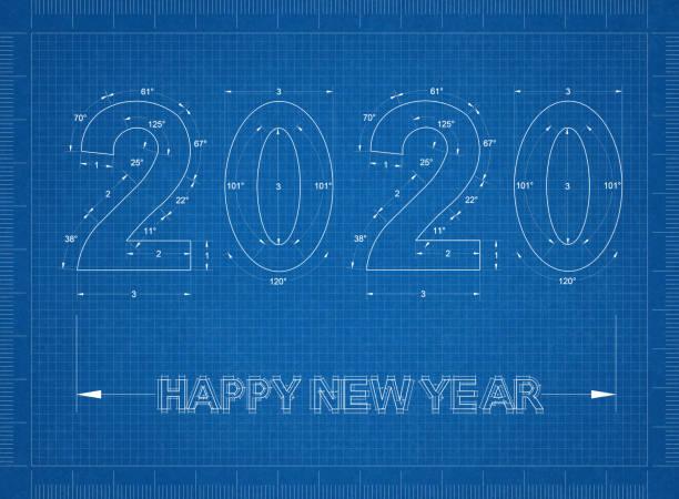 Neujahrs-2020-Blaupause - Hintergrund – Foto