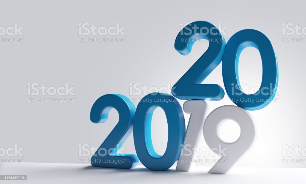 new year 2020 bold letters 3d-illustration