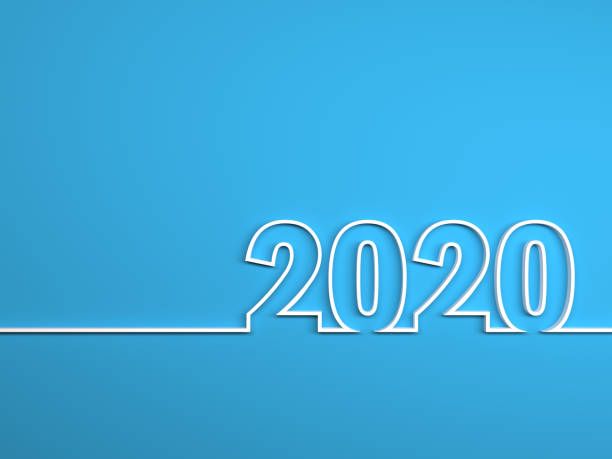 nouvel an 2020 creative design concept - calendrier digital journée photos et images de collection