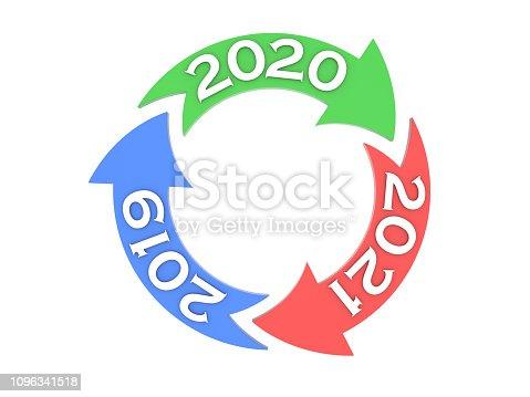 1004788900istockphoto New Year 2020 Creative Design Concept 1096341518