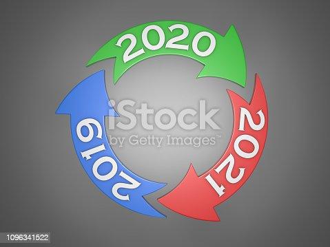 1004788900istockphoto New Year 2020 Creative Design Concept 1096341522