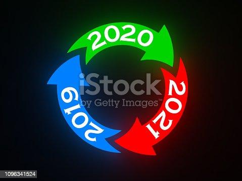 1004788900istockphoto New Year 2020 Creative Design Concept 1096341524
