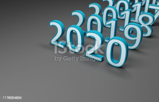 istock New Year 2020 Creative Design Concept 1176054634