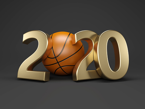 istock New Year 2020 Creative Design Concept with Basketball 1140698713