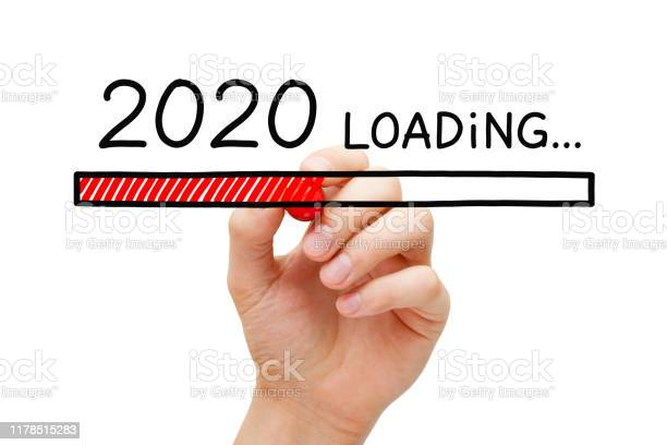 New Year 2020 Loading Bar Concept