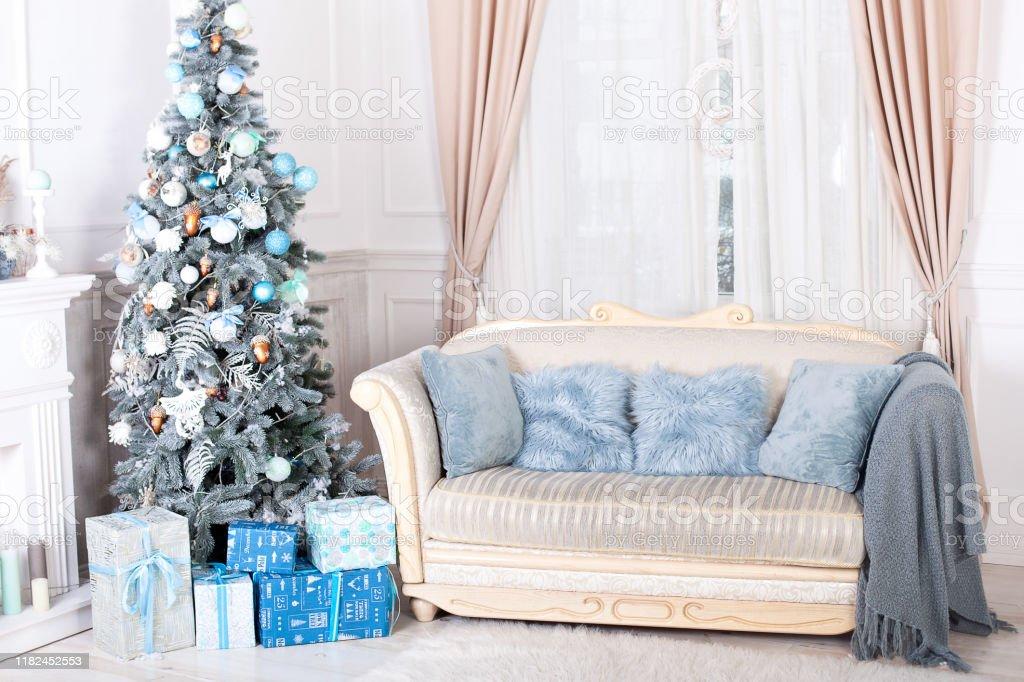 Living Christmas Tree 2020 New Year 2020 Merry Christmas Happy Holidays Stylish Living Room