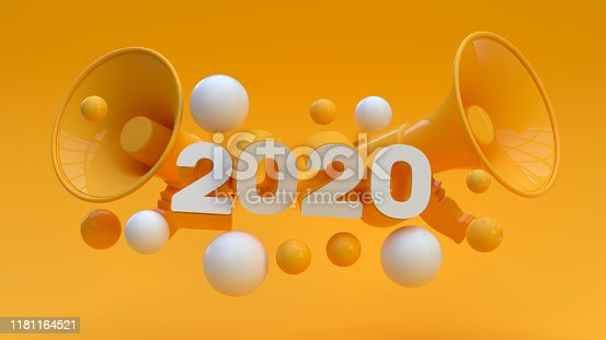 istock New year 2020, New Year Concept, Holiday Greeting card, Copy Space 1181164521