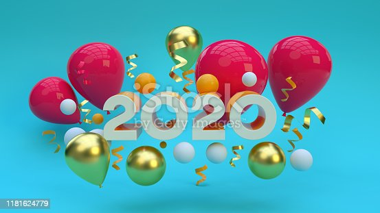 istock New year 2020, New Year Concept, Holiday Greeting card, Copy Space 1181624779