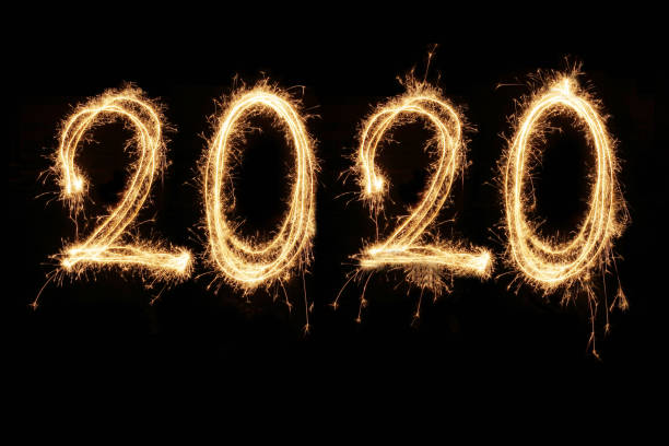 New year 2020 stock photo