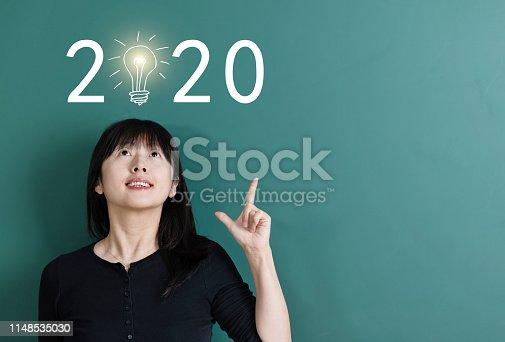istock New Year 2020 text on blackboard 1148535030