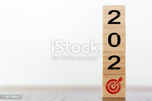 168589045 istock photo New year 2020 with goal target concept 1191765547