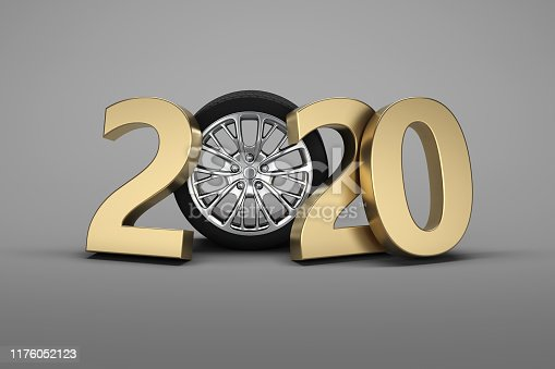 istock New Year 2020 with Wheel concept 1176052123