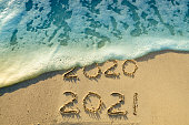 New Year 2021 by the sea