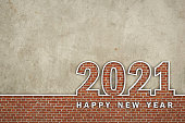 istock New Year 2021 Creative Design Concept - 3D Rendered Image 1216920066
