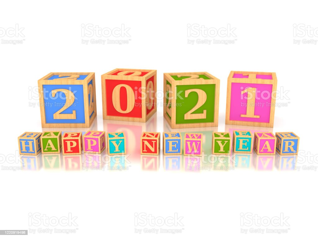 New Year 2021 Creative Design Concept Stock Photo ...
