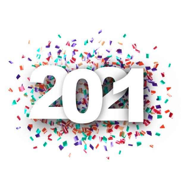 New year 2021 stock photo