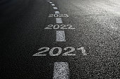 istock New year 2021 road start 1278618617