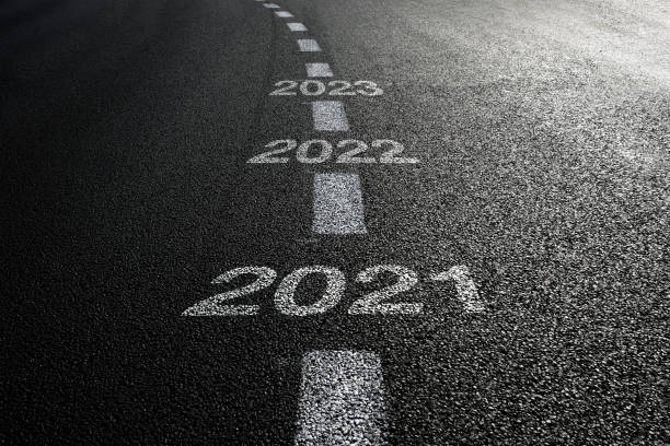 New year 2021 road start New year 2021 road start the way forward stock pictures, royalty-free photos & images