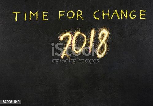 istock New Year 20218 concept on blackboard 872061642