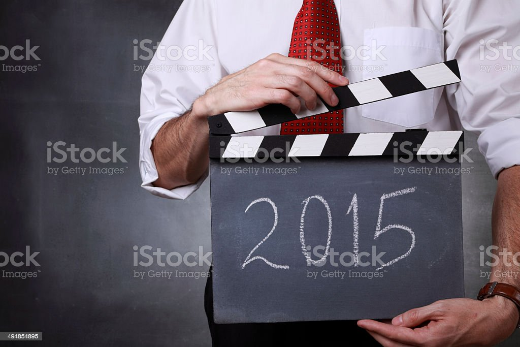 New Year!  Action! royalty-free stock photo