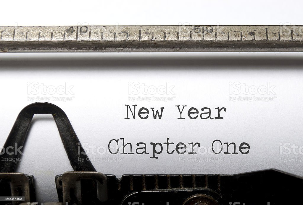 New year and chapter royalty-free stock photo