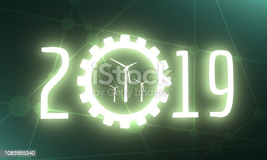 istock New Year and Christmas celebration card. 1083955340