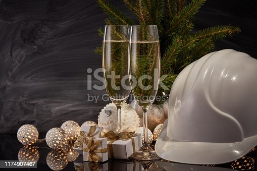 istock New Year and Christmas construction 1174907467