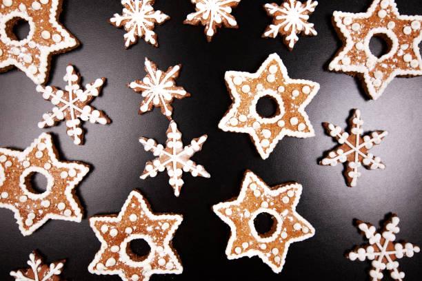 새해 첫날과 크리스마스를 진저브레드 스톡 사진