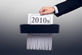 istock New Year and Decade - 2010s in the Paper Shredder 1194498836