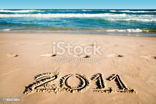 istock New Year at the beach - 2011 119342864
