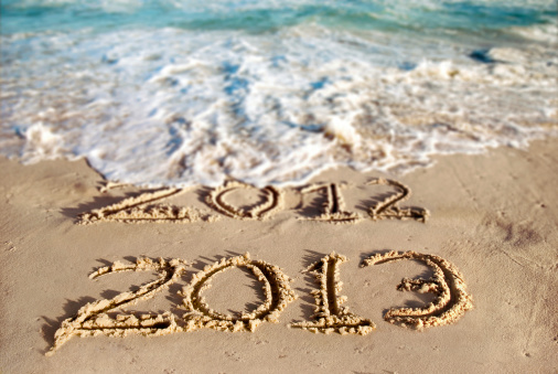 New Year At The Beach 2013 Stock Photo - Download Image Now